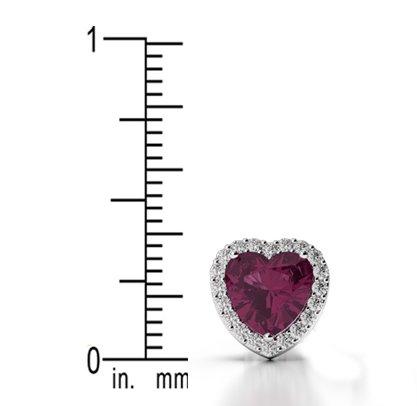 Or jaune 18carats 0,32CT G-H/VS sertie de diamants en forme de cœur Émeraude et boucles d'oreilles Ager-1065
