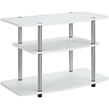 convenience concepts designs2go 3tier tv stand for flat panel television up to 32