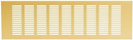 400x120mm Gold Kitchen Worktop 16x5 inch Plinth Heat Vent Grill Aluminium