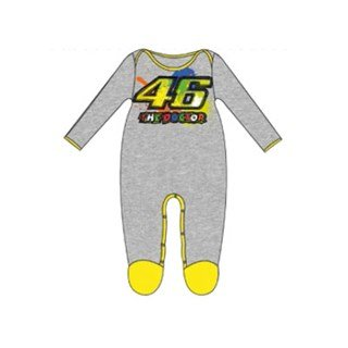 New! 2016 Valentino Rossi 46 Paint Baby Overall - Grey (M  12 months ... a373faed7fd