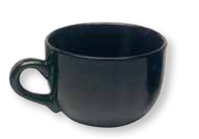 Jumbo Soup Mug - Jumbo Extra Large Ceramic Coffee Mug & Soup 22 ounce, Black (Pack of 2)