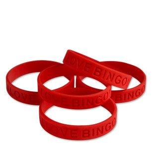 I Love Bingo Silicone Bracelet -