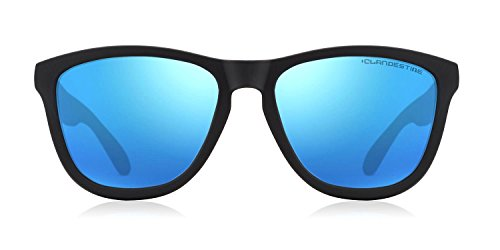 de Model CLANDESTINE femme Noire homme Opale polarisées Bleu Lunettes Model soleil amp; T4aawqE