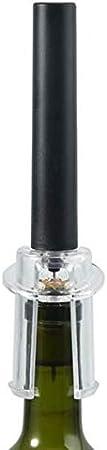 Larew Sacacorchos de vino de acero inoxidable, accesorio para bar, casa, fiesta, 2 unidades, color negro