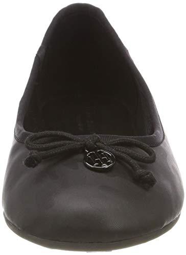 Mujer Hilfiger Ballerina Bailarinas 990 Camo Para Shiny Negro Tommy black nYCU4qwxU