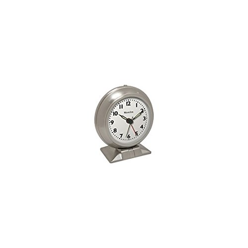 ssic Alarm Clock White Quartz Movement Metal Bezel 1 Aa Battery ()
