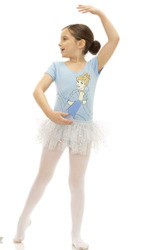Disney Princess Toddler Girls' Ballet Cinderella Blue Leotard Tutu & Tights (4T) -