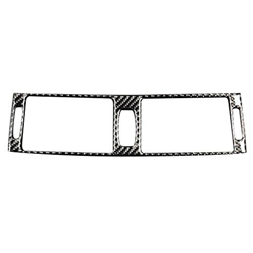 Arichtop Carbon Fiber Car Air Conditioning Middle Vent Outlet Cover Trim Decor Sticker for BMW X5 X6 E70 E71 2008-2013 ()
