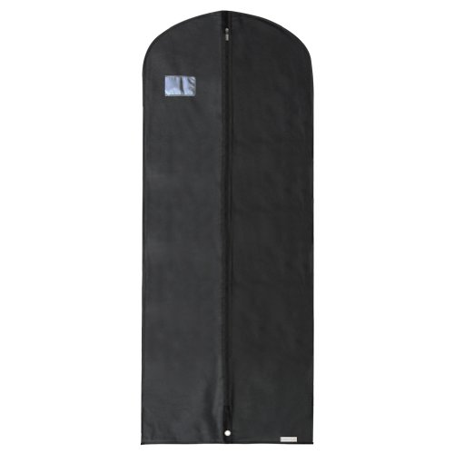 Hangerworld Black Breathable 60' Suit or Dress Garment Bag - Secret Internal Zipped Pocket