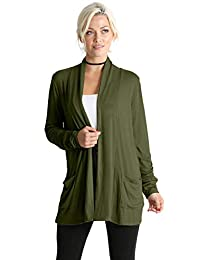 Long Sleeve Lightweight Cardigan Sweater for Women with Pockets - Made in USA