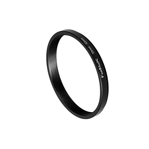 Fotodiox Metal Step Down Ring Filter Adapter, Anodized Black Aluminum 55mm-52mm, 55-52 mm - 52 Mm Step