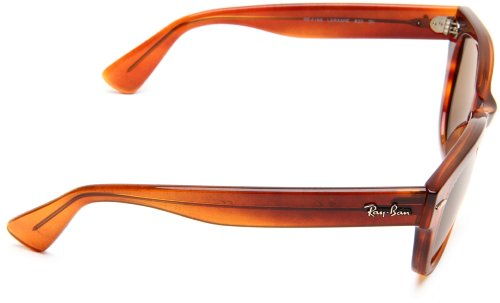 72343fff4 Ray-Ban RB4169 Laramie Wayfarer Sunglasses 53 mm, Non-Polarized, Striped  Havana