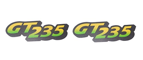 Hood Decal Set - New Kumar Bros USA Lower Hood Set of 2 Decals replaces M126056 Fits John Deere GT235 Low S/N
