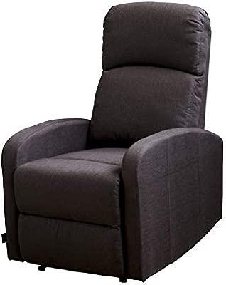 Astan Hogar Confort Sillón Relax con Reclinación Manual, Tapizado en Tela. Modelo Premium Plus AH-AR30610CH, Chocolate, Compacto
