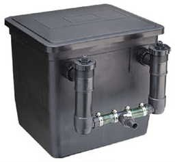 Fish pond filter box complete with uv pump for ponds up for Complete koi pond filtration systems