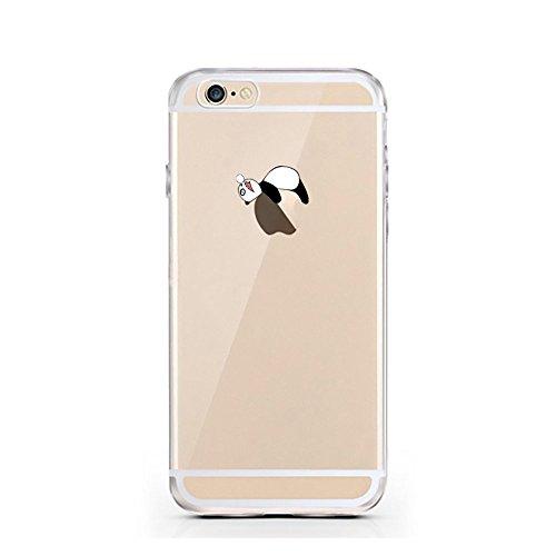 "licaso® iPhone 6 4,7"" TPU Hülle Disney Case transparent klare Schutzhülle Disney Hülle iphone6 Tasche Cover (Panda schläft)"