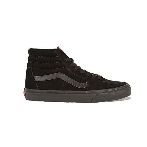 Vans Unisex Sk8-Hi Black Canvas Skate Shoe 12