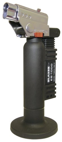 Angled Head Micro Torch (Blazer ES1000CR Spitfire Refillable Butane Torch,)