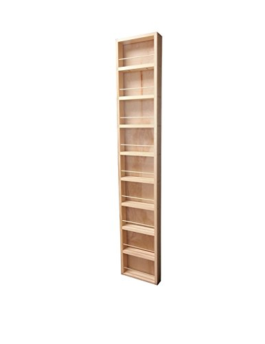 Wood Cabinets Direct Fulton Premium on The Wall Spice Rack, 62'' Height x 14'' Width x 2.5'' Deep by Wood Cabinets Direct