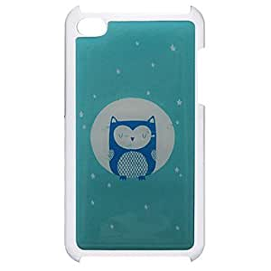 hao Cartoon Style Eyes-Closed Owl Pattern Epoxy Hard Case for iPod Touch 4