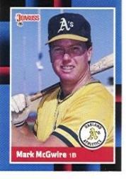Amazoncom 1988 Donruss Baseball Card 256 Mark Mcgwire