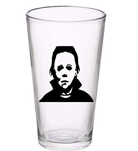Michael Myers Halloween Horror Pint Wine Glass Tumbler Alcohol Drink Cup Barware Halloween Scary (Wine Glass) (Pint) ()