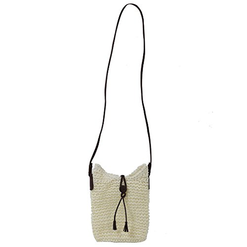 Fabric of bags Straw Jute Women Bag White Crossbody TOOGOO Travel Fabric Beach R Bags Shoulder Summer Canvas YIgE5qx