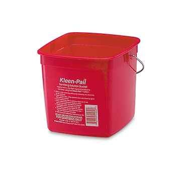 Red Pail Sanitizing (San Jamar KP97RD 3-Quart Red Kleen-Pail Container - 1 Bucket)