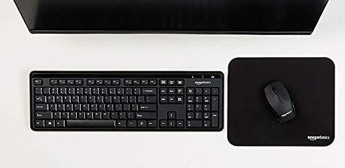 Amazon Basics Wireless Keyboard-Quiet and Compact-US Layout (QWERTY)