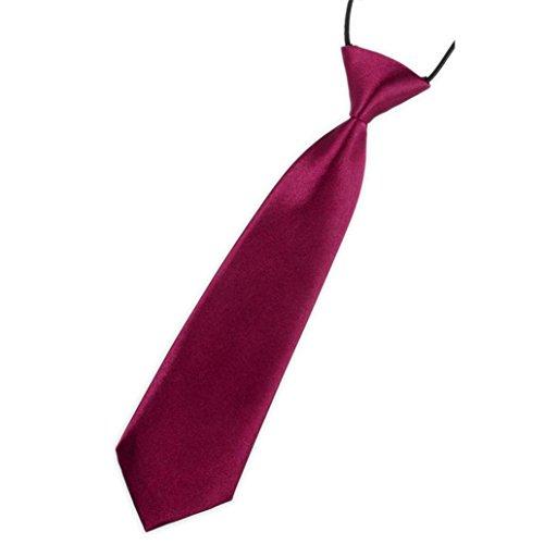 Vovotrade Baby Boys Handsome Necktie School Boys Kids Children Baby Wedding Solid Colour Tie Necktie (J)