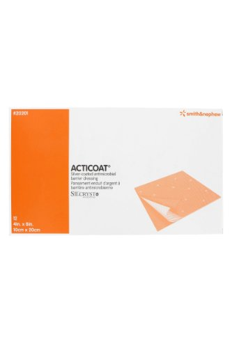 Acticoat Burn Dressing (4''x8'') (Box of 12) by Smith & Nephew