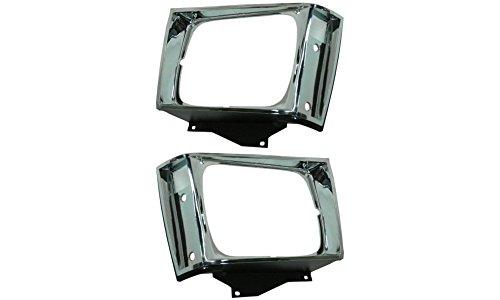 Evan-Fischer EVA18972055269 Headlight Door for Chevrolet S10 Pickup 82-90 RH And LH Included Chrome Replaces Partslink# GM2512121, GM2513121