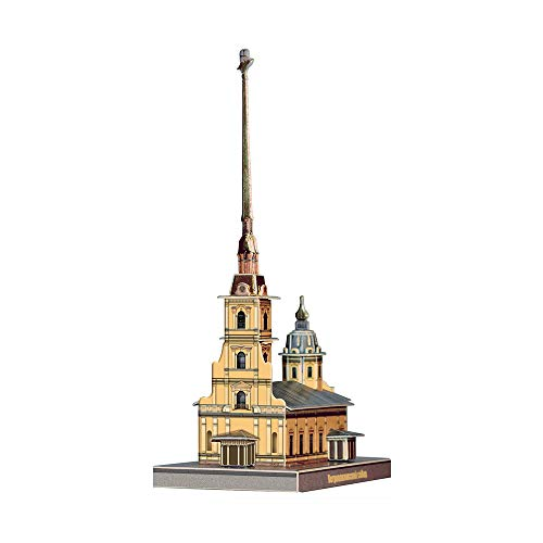 UMBUM Innovative 3D-Puzzles - Saints Peter and Paul Cathedral, St. Petersburg, Russa Clever Paper (481) (Peter And Paul Cathedral St Petersburg Russia)