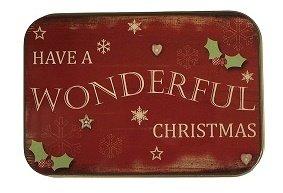 [해외]크리스마스 선물 카드 소지자 틴 박스 스노우 맨이 멋진 크리스마스를 가짐 4 팩/Christmas Gift Card Holders Tin Box Snowman Have a Wonderful Christmas 4 Pac