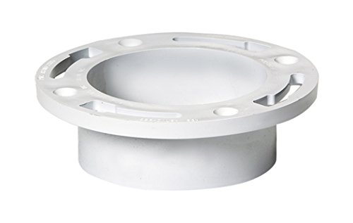Plastic Oddities 4-inch Closet Flange Without Test Cap (PFF106), Fits Over 4-inch Sch 40 DWV PVC Pipe, Has 4 Mounting Slots, Countersunk Holes, Full Flow Flush Fit, 4-inch Toilet Flange, Made in USA. (Flange Toilet Plastic)