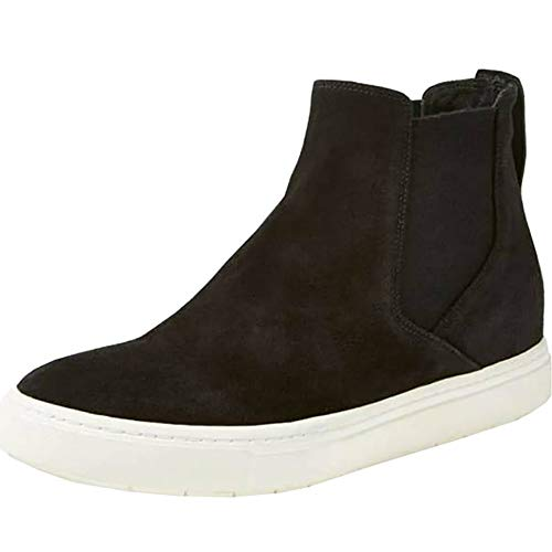 Women's Fashion Platform Sneaker Casual Wedges Zipper Ankle Booties Shoes Flats Closed Toe