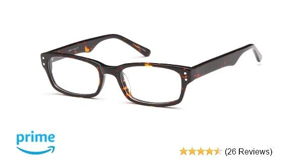 f5873498c6 Amazon.com  Prescription Glasses Frames Rxable in Tortoise w Studs  Clothing