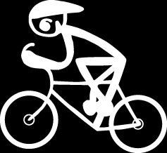 Cyclist Racing Stick Figure Family stick em up White vinyl Die Cut vinyl Decal sticker for any smooth surface
