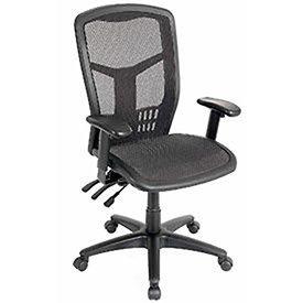 Multifunction High Back Chair, Premium Mesh, Black ()