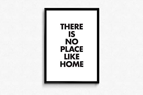 There is No Place Like Home Printable Quote S Graphic Design Signs Printable Farmhouse Decor Typography Poster