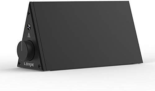 LOXJIE A10 Desktop Stereo Power Amplifier Digital Class-D High-Power Audiophile Level Amp Chip TPA3116 Black