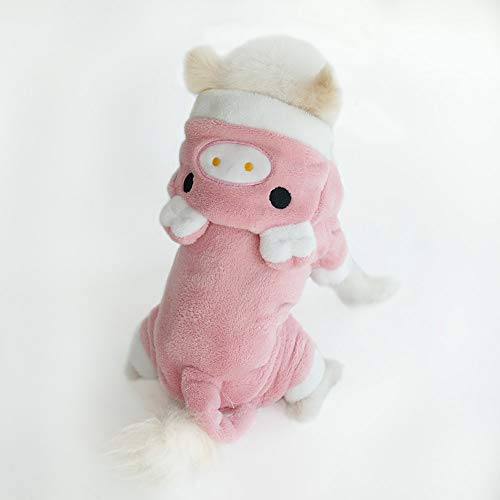 InnoPet Cute Small Dog Clothes Costume Girl Pink Pig Puppy Clothes Hoodie Warm Coat Apparel Outfits