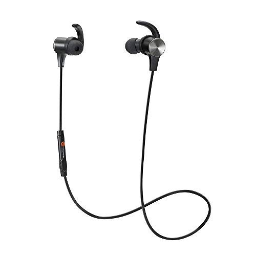 Bluetooth Headphones TaoTronics Wireless 4.2 Magnetic Earbuds Snug Fit for Sports with Built in Mic TT-BH07 (IPX6 Waterproof aptX Stereo 6-8 Hours Playtime)