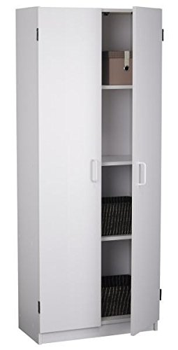 System Build Flynn Wooden Storage Cabinet, White