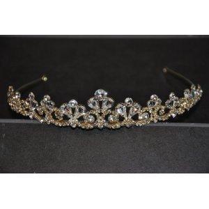 Brautschmuck gold  Flomans® - goldene Tiara Diadem mit 24 karatigem Gold ...