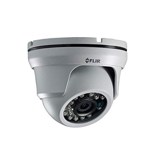 FLIR Digimerge ME363 Outdoor 4-in-1 Security Dome Camera, 4MP Quad HD Fixed MPX, 3.6mm, 80ft Night Vision, Works with HD-CVI/HD-TVI/AHD/Lorex, Flir MPX DVR, White (Camera Only)