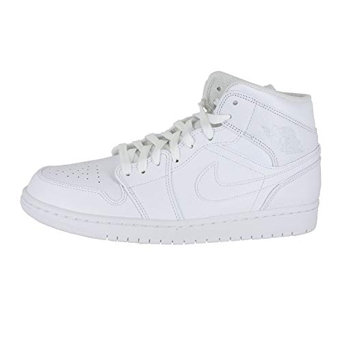 NIKE White AIR MID Mens Jordan Platinum 1 White Jordan Pure rEZrqw