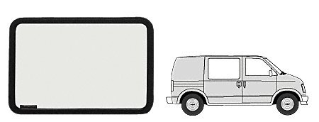C.R. LAURENCE VW40271R CRL Fixed Window - Side Door 1985+ Chevy Astro/GMC Safari 38-1/2'' x 20-1/4''