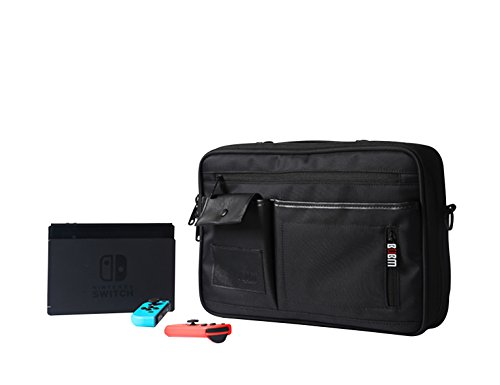 Price comparison product image BUBM Nintendo Switch Carry Bag / Case / Cover With Shoulder Strap For Nintendo Switch Full Console, Travel Gadget Organizer Case, Electronics Accessories Bag,(Single shoulder bag)