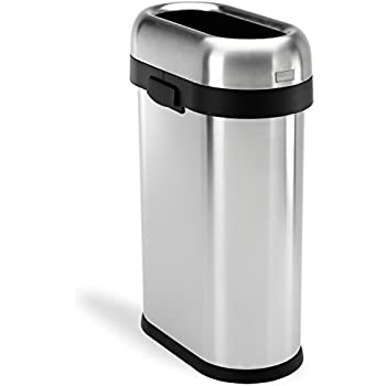 Amazon Com Oxo Good Grips Red Steel Rectangular Trash Can